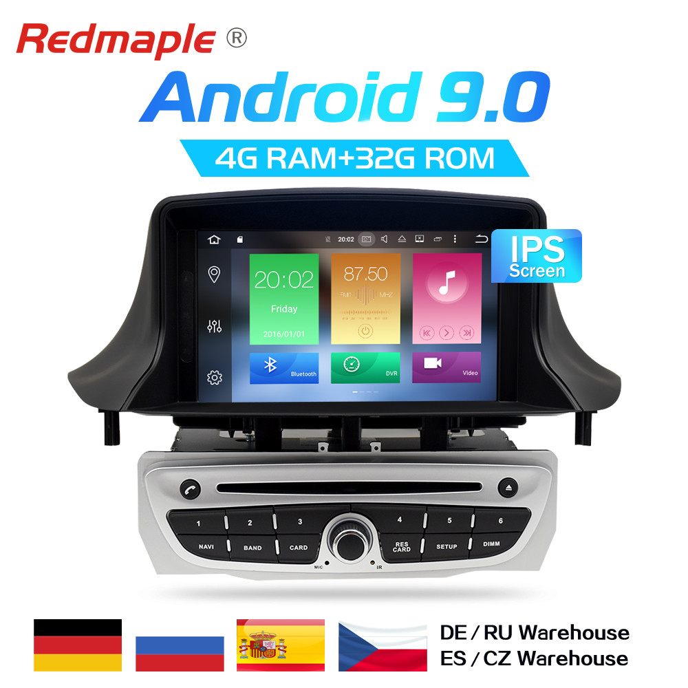 IPS Screen Android 9.0 Car Radio DVD Player Multimedia Stereo For Renault Megane 3 Fluence 2009-2015 Auto Audio GPS Navigation