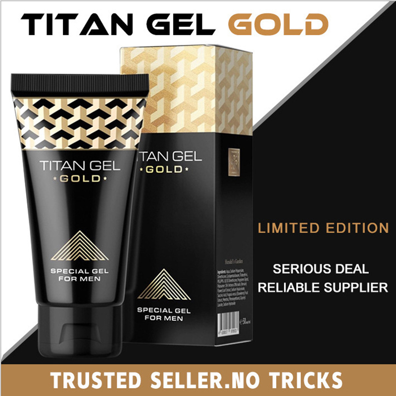 Original Titan Gel Gold Russia Penis Enlargement Cream Retarder Intim Gel Help Male Potency Penis Growth Delay Cream sex lube