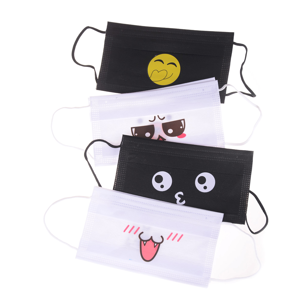 5Pcs Anti-dust Windproof Masks KAWAII Disposable Mouth Mask Cute Cartoon Non-woven Mouth-muffle Flu Face Medical Mask