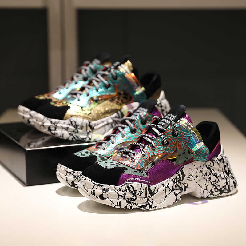 Prova Perfetto 2020 Sneakers Nữ Hợp Thời Trang Chun Bố Dây Giày Giày Đế Mới Màu Ngụy Trang Sneakers Chaussures