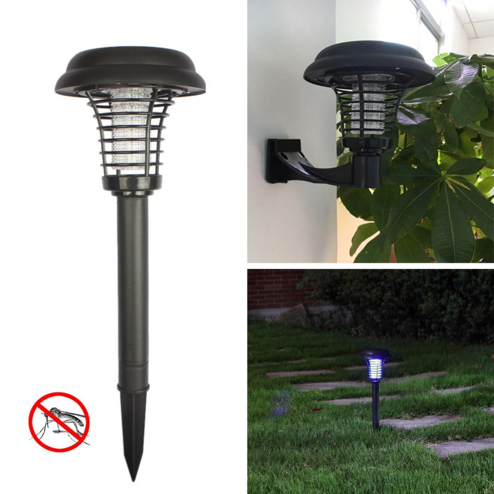 Led lamp Mosquito killer Solar mosquito killer lamps  solar powered lawn lamp Led Mosquito light for lawn Garden courtyard Patio-in Mosquito Killer Lamps from Lights & Lighting