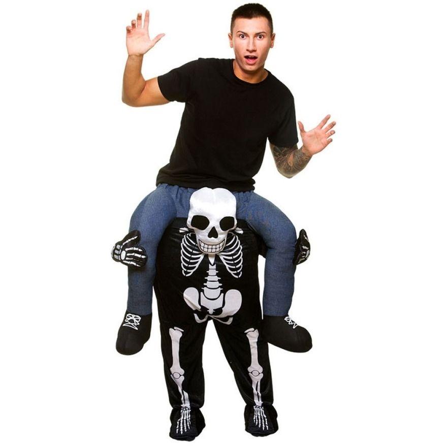 Crâne monter sur moi mascotte Cosplay Costumes porter retour pantalons drôles habiller Oktoberfest Halloween fête nouveauté équitation jouets