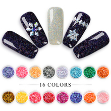 T-TIAO CLUB Rhombus Colorful Glitter Flakes 3D Nail Art Decoration Shiny Sequins DIY Manicure For Nails Charming