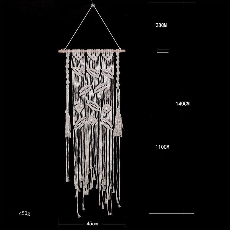 Оригинальный Плетеный гобелен ручной работы в богемном стиле подвеска для