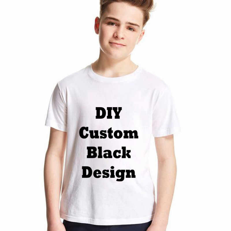 ... LYTLM Quality Combed cotton Customized T Shirts for Boys T-shirts for  Girls Black Image ...