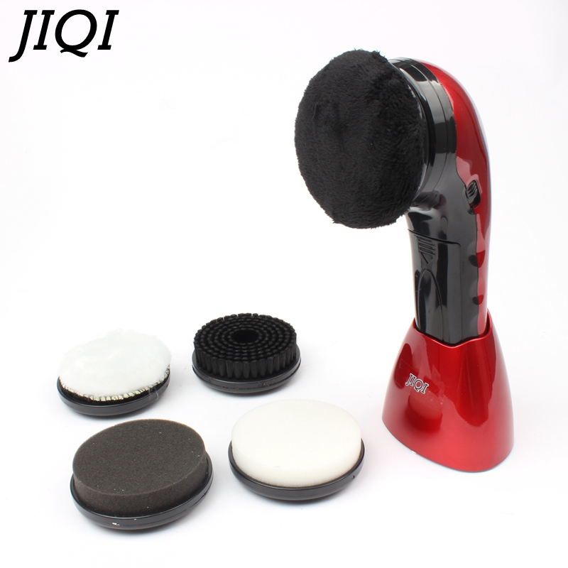 JIQI household electric mini shoes polisher hand-held portable Leather Polishing Equipment automatic clean machine jiqi automatic cold