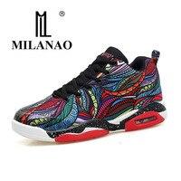 2017 MILANAO Men Women Basketball Shoes Big Size Colorful Basketball Shoes For Men Lace Up Basketball