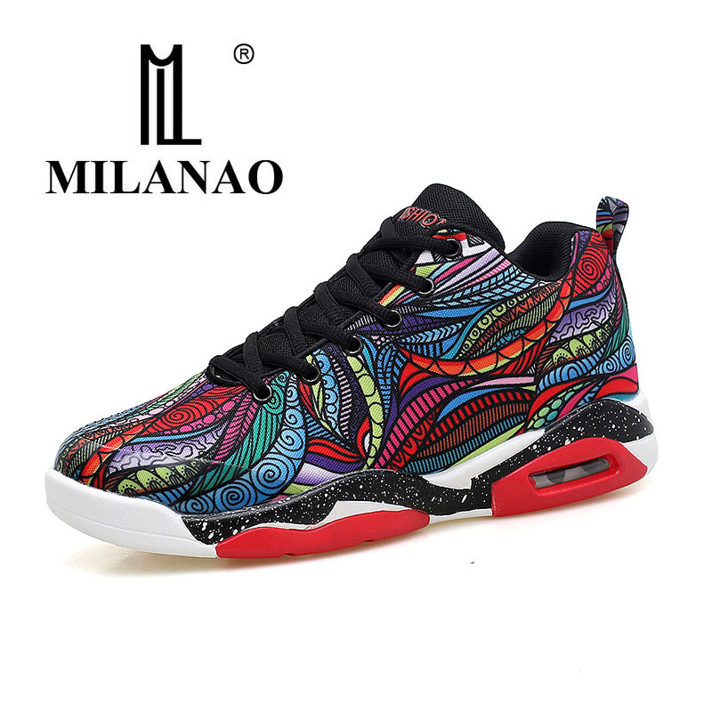 2017 MILANAO Men &women basketball shoes Big size colorful basketball shoes for Men Lace-up basketball shoes 36-47 p76 420 women s basketball size 6