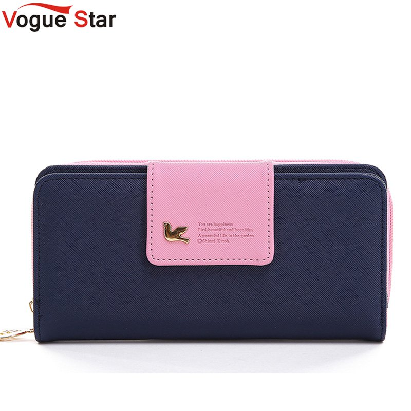Vogue Star 2017 Women Brand Wallets Famous Designer PU Leather Purses Multi Colors Women Wallets  Hot selling YK40-21 gl brand vogue 3colors jf0017