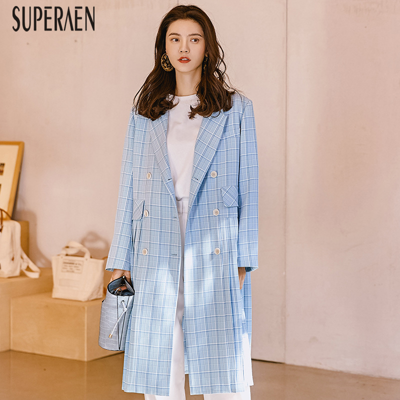 SuperAen Europe Fashion   Trench   Coat Fort Women Pluz Size Temperament Cotton Wild Ladies Windbreak Spring 2019 Women's Clothing