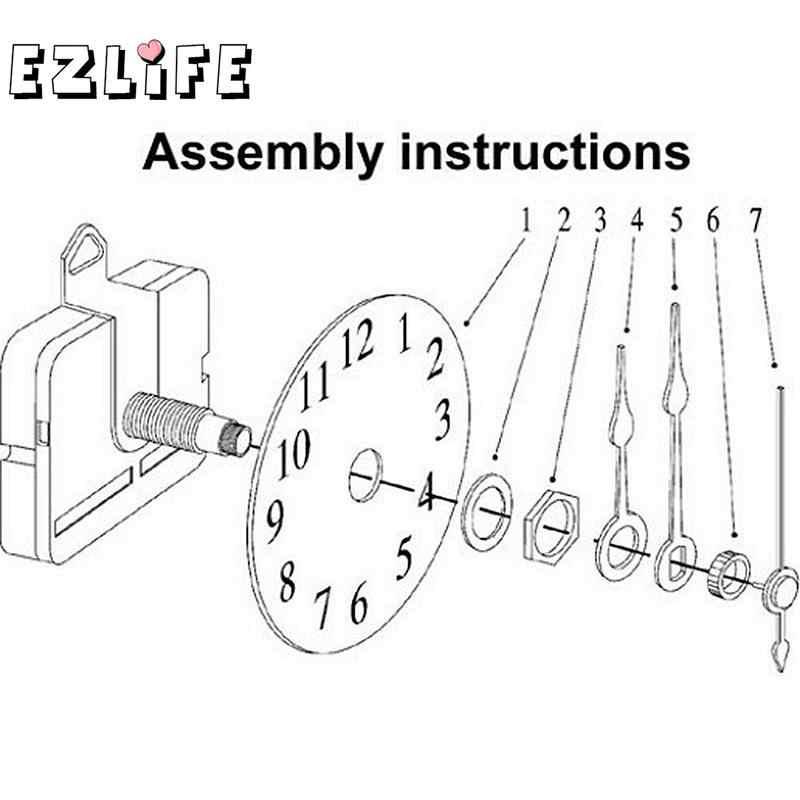 Silent Quartz Wall Clock Spindle Movement Mechanism Part Tool Kits 2019