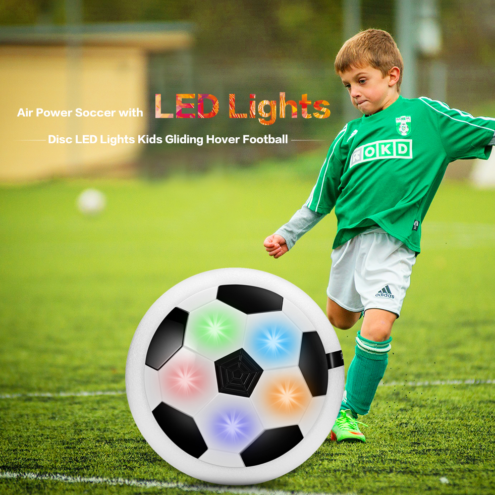 Flashing Air Power Soccer Ball Led Light Plastic Hover Balls Disc Multi-Surface Hovering Football Game Toys Outdoor Fun & Sport