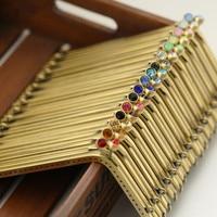 18 5cm Rectangular Purse Frame With Diamond L Port Metal Clasps For Purses Bronze Bag Parts