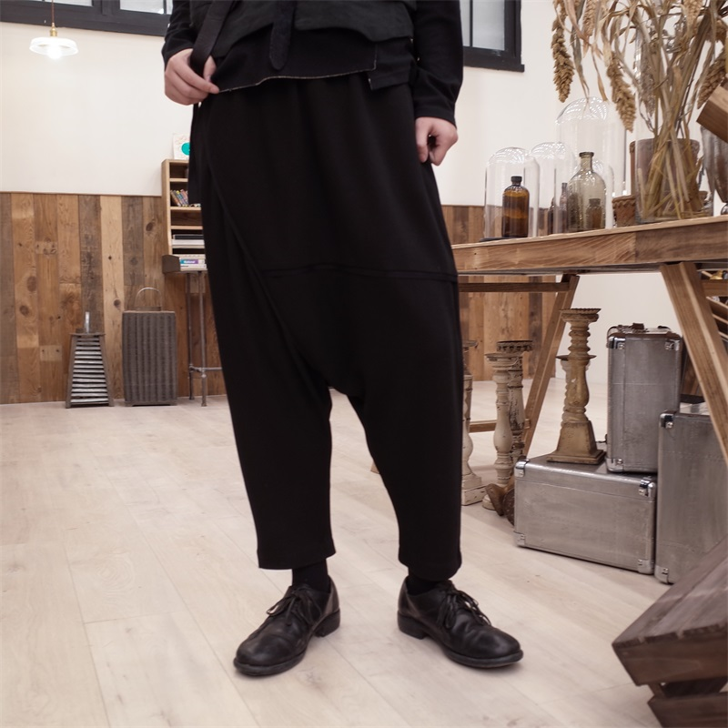 Trousers Punk Ninth-Pants Stylist Hip-Hop Low-Crotch Black Fashion New 27-44 Customized