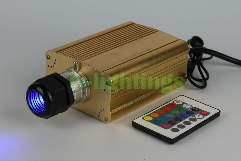 Fiber optic lights source RGB led light engine  box IR remote for optical fiber night lighting star ceiling home decoration 25W