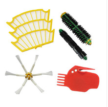 все цены на Brush 6 armed + Filter  + clean tool kit For iRobot Roomba 500 series 530 550 560 570 580 Vacuum Cleaner Accessories replacement онлайн