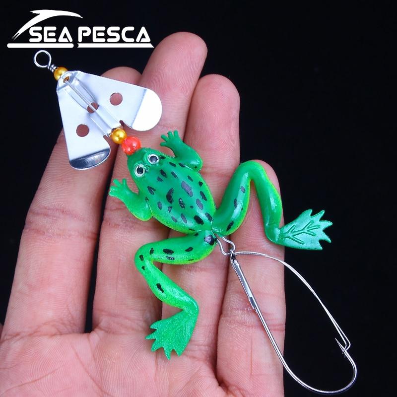 SEAPESCA 8cm 6.2g 새로운 고무 개구리 소프트 낚시 루어 - 어업