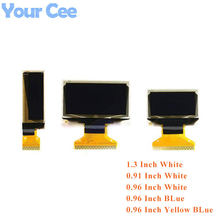 0.91 0.96 1.3 tela oled lcd branco azul módulo tela oled Polegada ''0.91'' 0.96 ''1.3x32 128x64 ssd1306 sh1106 para arduino