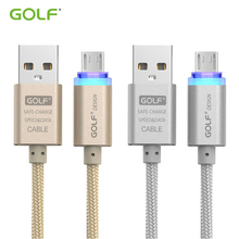 GOLF Smart LED Light Fast USB Data Sync Charger Cable for Samsung S6 S7 Redmi 5 6 Note4X Micro Android Phone Charging Cables