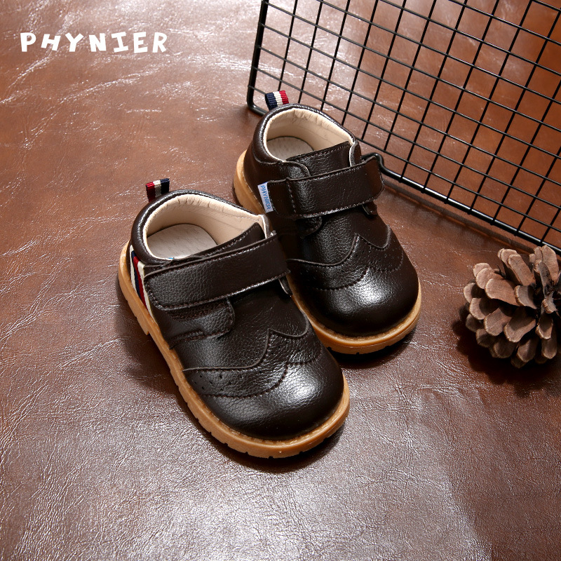 Infant Leather Shoes Spring 2019 British Style Children Boys Fashion Single Shoes Shoes Baby Girls