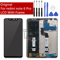 Original For Xiaomi redmi note 6 Pro LCD Display With Frame Touch Screen Digitizer Assembly Touch Screen Repair Parts