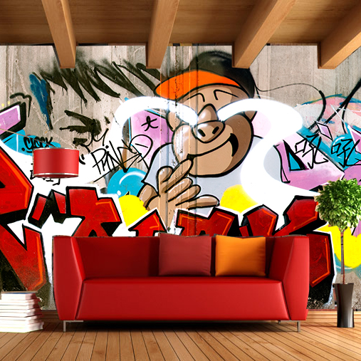 Free Shipping cry boy mural Bar Cafe lounge living room theme hotel KTV school palyground background graffiti wallpaper mural