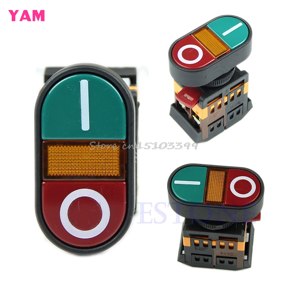 Red Green Light Indicator Momentary Switch Power Start Stop ON OFF Push Button G08 Drop ship 1pc 12v waterproof push button on off switch with 4 leads motorcycle car boat on sale g08 drop ship