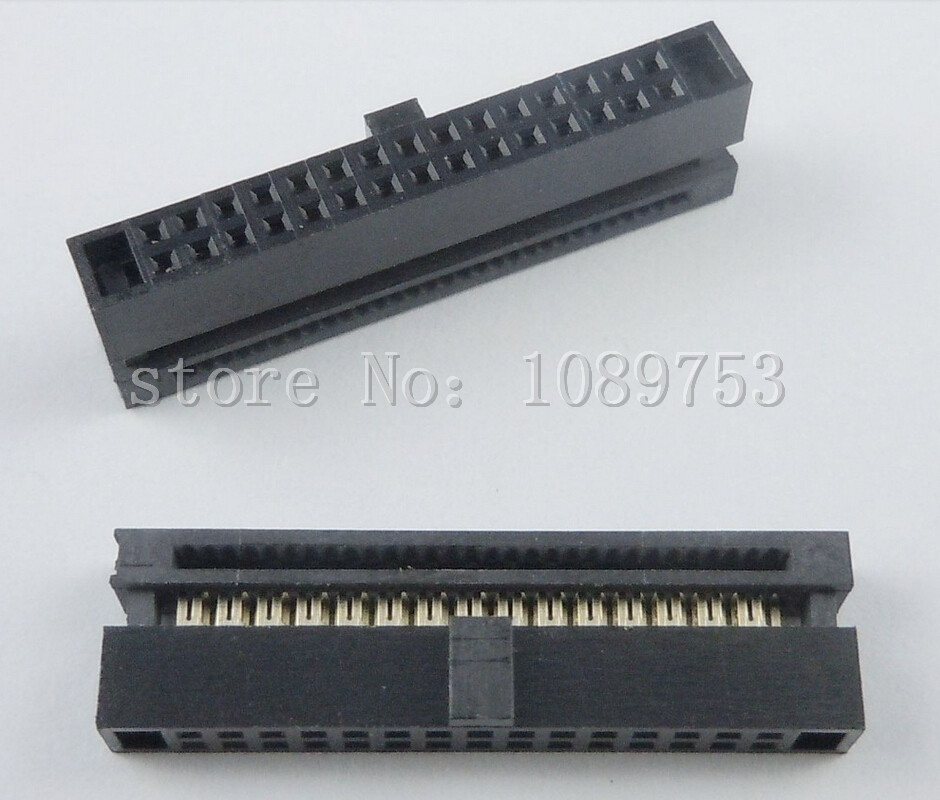 20Pcs 1.27mm Pitch 2x15 Pin 30 Pin IDC FC Female Header Cable Socket Connector 10 pcs idc fc pitch 2 0mm 34 pin cable female header socket connector 2x17 pin