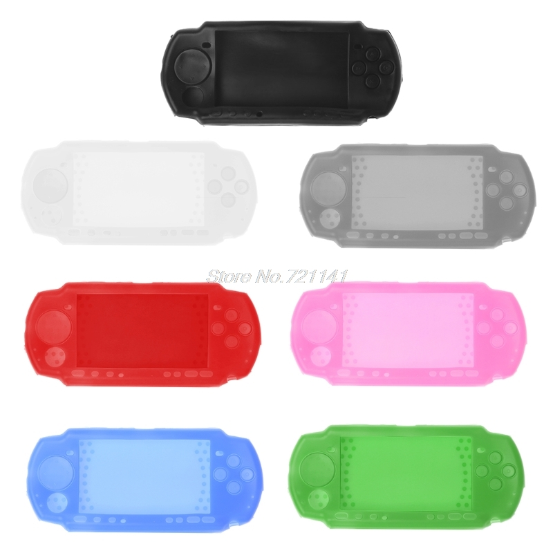 Silicone Soft Protective Cover Shell For Sony PlayStation Portable PSP 2000 3000 Console For PSP3000 Body Electronics Stocks