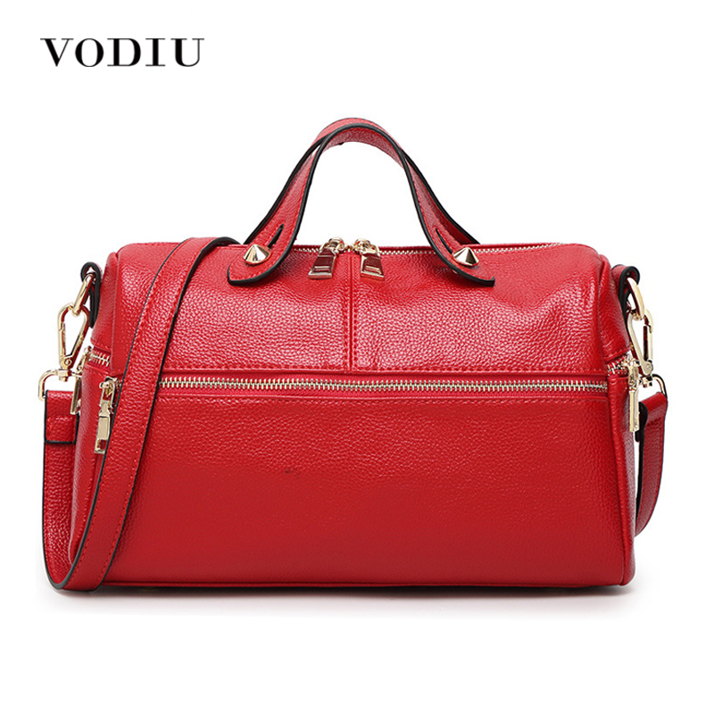 Women Bags Genuine Leather Tote Over Shoulder Sling Messenger Crossbody Tote Fashion Famous Brand Zipper 2017 Red Female Handbag women bags handbag female tote crossbody over shoulder sling leather messenger small flap patent high quality fashion ladies bag