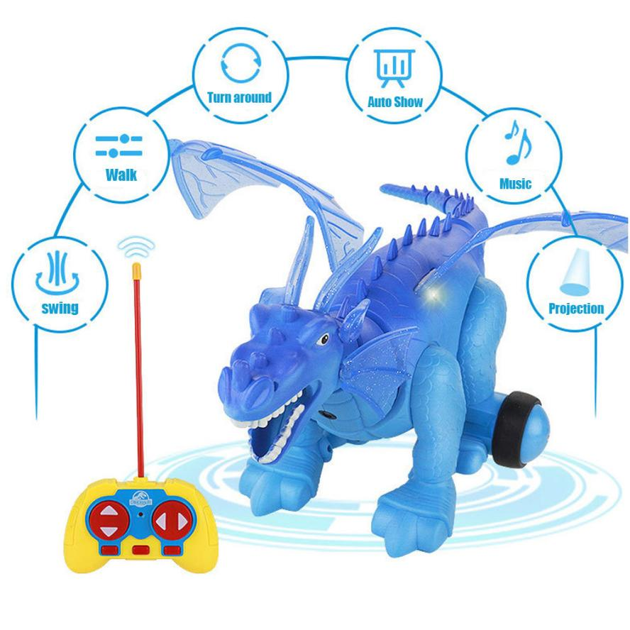Simulated Electric Dinosaur Light Projection Realistic Dinosaur Action Toy Model Electronic Toys D40+ 12pcs lot dinosaur toy set plastic dinosaur world play toys dinosaur model action