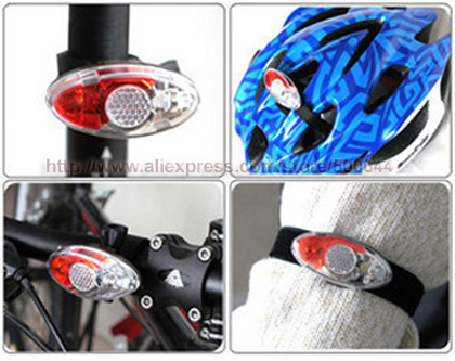 Waterproof 4 LED Tail Light with Clip Safety Bike Warning Light Arm Light Helmet Light & ...
