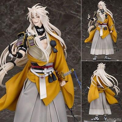 Touken Ranbu Online Mikazuki Munechika Kogitsunemaru Fox Ball Touken Browser 24CM PVC Action Figures Collectible Model Toys touken ranbu sword dance mikazuki