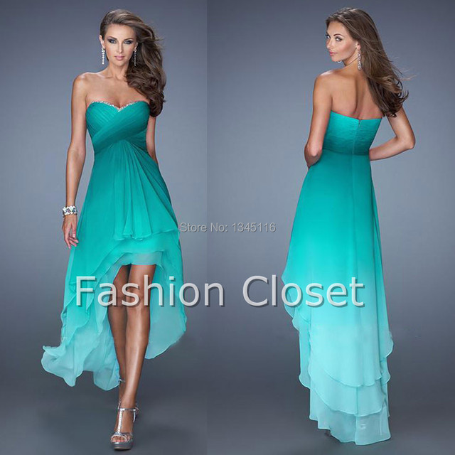 2016 New Design Best Ing Ombre Chiffon Short Front Long Back Prom Dresses Bridesmaid Gowns Dress