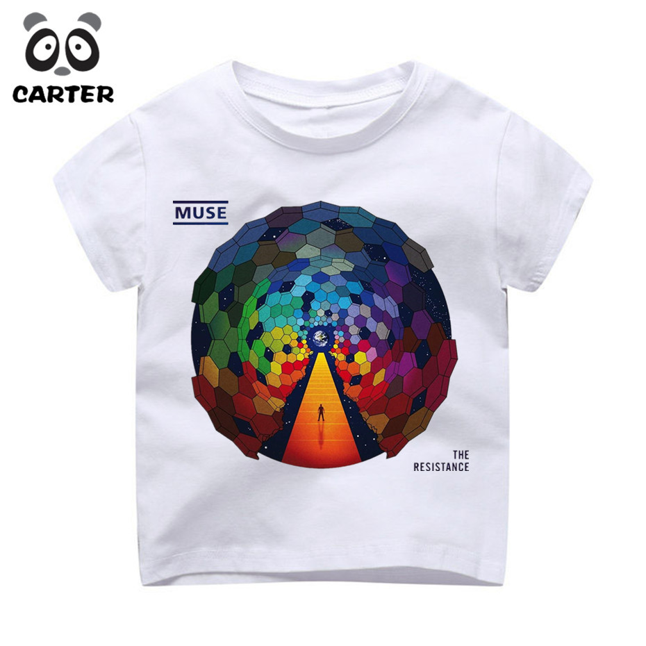 55730dd1fc89 Boy and Girl MUSE Band Design T Shirt Enfant Kid Casual Kawaii Short Sleeve  Tops Tees Children s Funny Baby Clothes