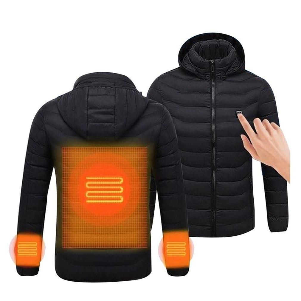 Vêtements thermiques hommes confortables manteau chauffant USB veste chauffante vêtements d'hiver vêtements d'extérieur