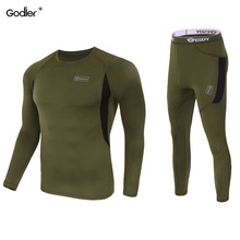 Godier New Men Thermal Underwear Sets Sweat Quick Drying Ant