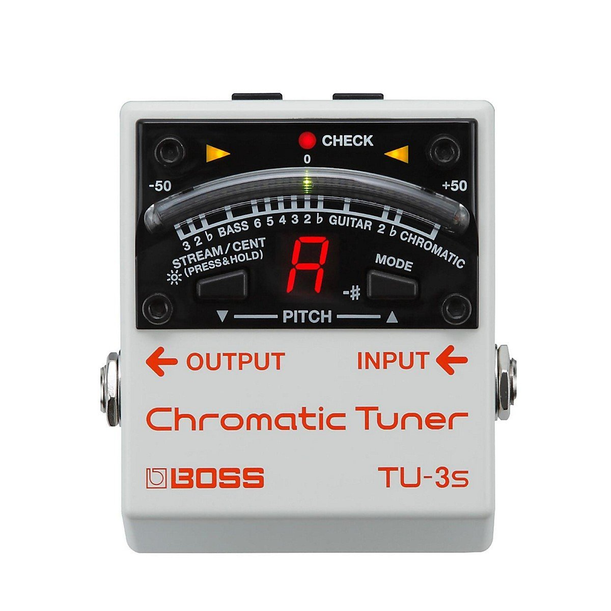 Boss TU-3S Chromatic Tuner Pedal Compact Guitar and Bass Tuner Pedal with 21-segment LED Meter, Drop Tuning Support гитарный тюнер boss tu 3w