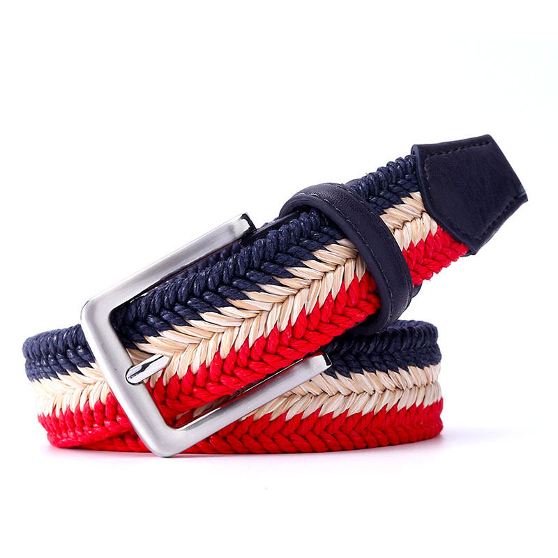 Canvas Woven Belt Unisex Casual Waistband 110 cm Trendy Men Belts Weave Cool Men Longer Belts 135 cm Young Boy Cloth Belt 105 cm