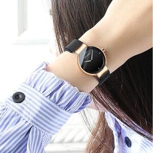 Image 5 - カップルの腕時計の男と女の高級ブランド薄型フルメッシュシンプルなエレガント防水時計のカップルの恋人クォーツビジネス腕時計