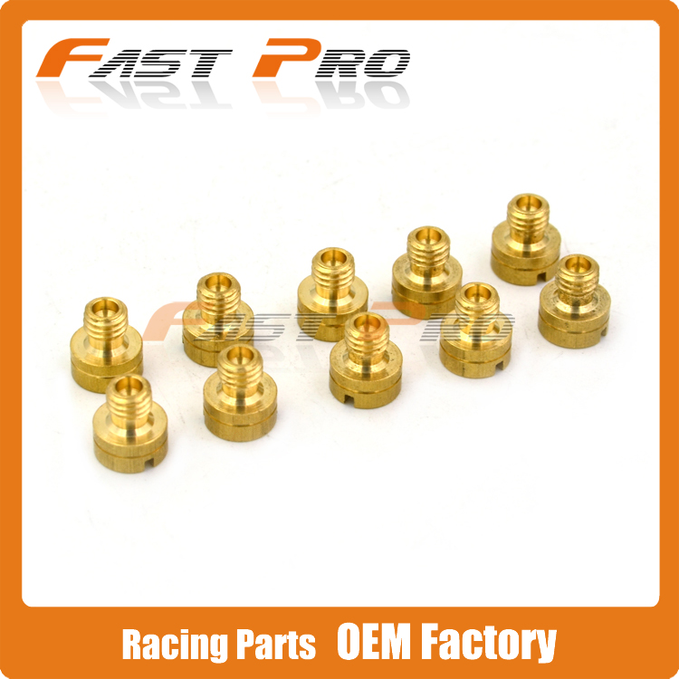 10 PCS Mikuni Carb Carburetor Main Jet Main Injector Nozzle Set BS26 GN125 EN125 TTR FZR High Performance цена и фото