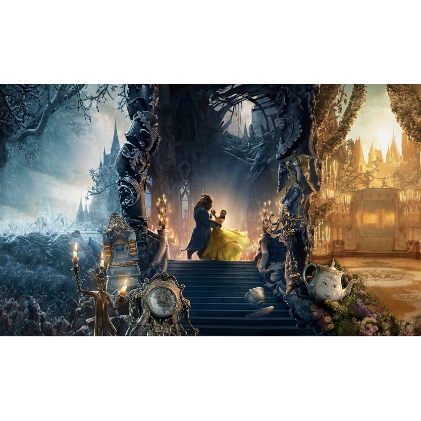 Vinyl Photography Background Cartoon Beauty and the Beast Fairy Tale Dance in Castle Children Backdrops for Photo Studio S-2706 spook s slither s tale