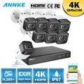 ANNKE 4 K Ultra HD 8CH DVR H.265 + CÁMARA DE CCTV sistema de seguridad 8 piezas 8MP sistema CCTV IR al aire libre kit de videovigilancia de visión nocturna