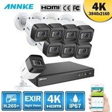 ANNKE 4 K Ultra HD 8CH DVR H.265 + CCTV Камера безопасности Системы 8 шт 8MP CCTV Системы ИК Открытый Ночное видение комплект видеонаблюдения