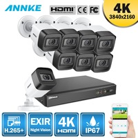 Annke 4 k 울트라 hd 8ch dvr h.265 + cctv 카메라 보안 시스템 8 pcs 8mp cctv 시스템 ir 야외 야간 투시경 비디오 감시 키트