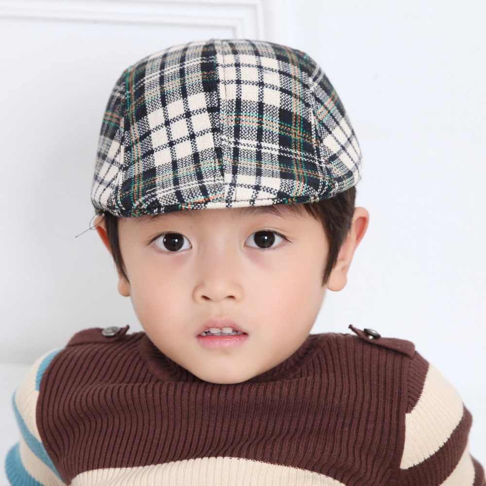 ... Children grid Beret baby cotton beanie Exclusive Design hat Funny Cap  take home outfit Accessories Kids ... 1e4c74f0125