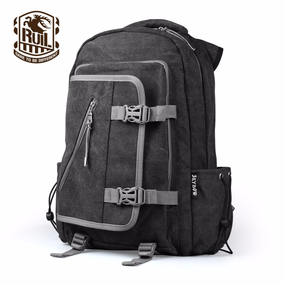 RUIL 2017 Men's Backpack Laptop Anti-Piracy 14.1 Large Capacity Travel Bag Computer Bag School Backpack software piracy exposed