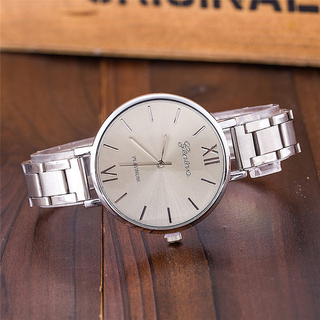 2018 Women Watches New Luxury Casual Analog Alloy Quartz Watch Stainless Steel B