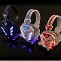 Barato Gaming Headset 3.5mm Fones De Ouvido fone de ouvido de jogos Jogos de telefone Cabeça com microfone led light para pc computador gamer