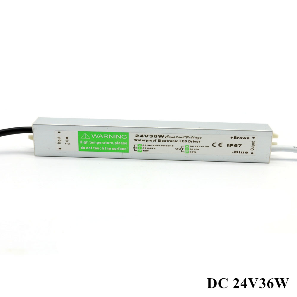 <font><b>DC</b></font> <font><b>24V</b></font> 36W <font><b>1.5A</b></font> Outdoor Power Supply Waterproof ip67 Electronic Led Driver <font><b>AC</b></font> 90-250V 110V 220V Constant Voltage Power Supply image